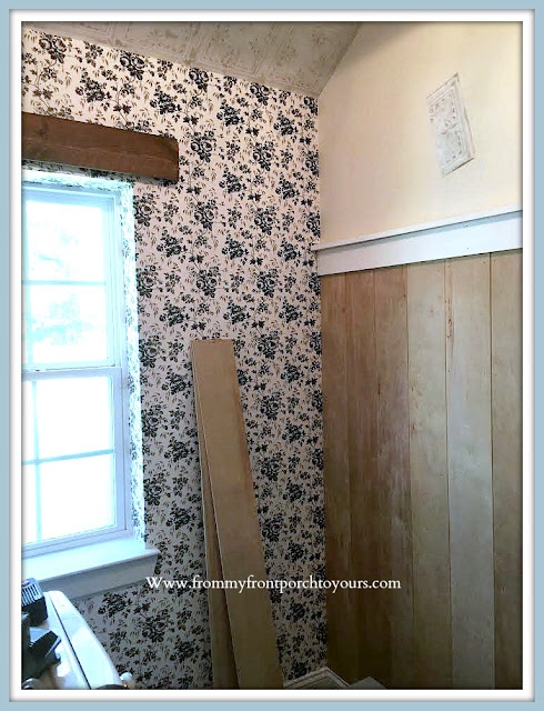 Laundry Room Makeover-DIY-Board & Batten-Farmhouse Cottage Style-From My Front Porch To Yours