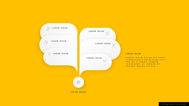 Six callouts with speech bubbles for PowerPoint Templates Type B