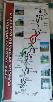 peta pendakian merbabu selo