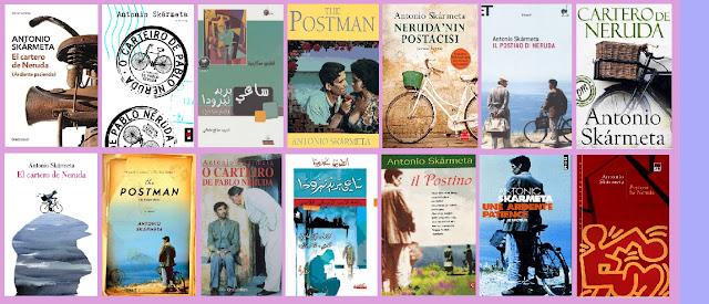 Portadas de la novela contemporánea El cartero de Neruda, de Antonio Skármeta