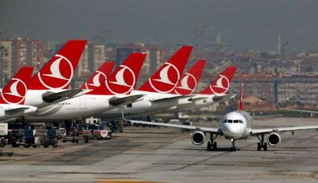 Καθηλωμένο το 85% του στόλου της Turkish Airlines