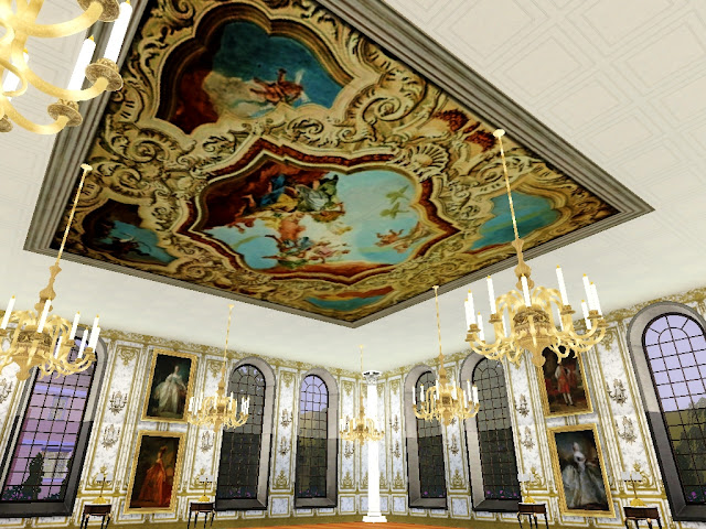 Royal Decor 3d Wallpaper My Sims 3 Blog The Royal Collection Of Baroque Ceiling