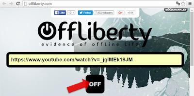 Descargar audio de YouTube en Offliberty