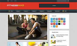 FitnessMag Blogger Template