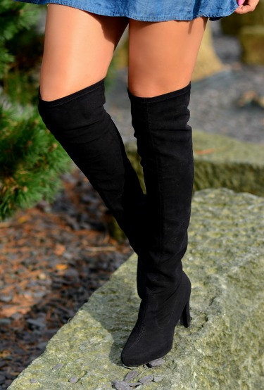 Unisa, Black suede over the knee boots