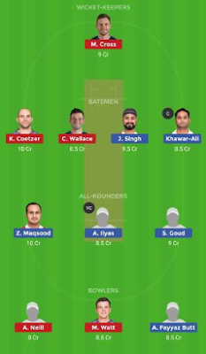 SCO vs OMN dream11 team | OMN vs SCO