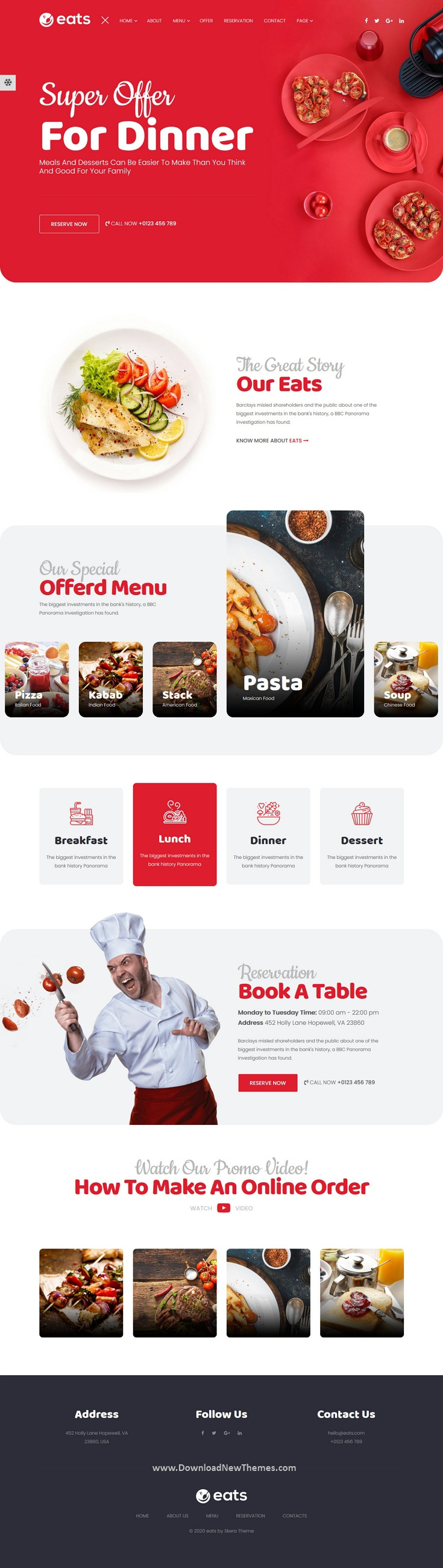 Food and Restaurant HTML Template