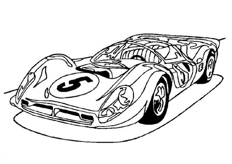 Desenhos Online Para Colorir E Imprimir Carro De Corrida Pra Pintar