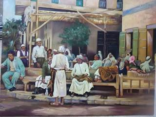 رسم ازقة بغداد قديما