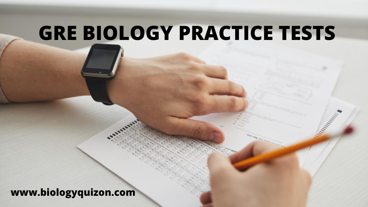 GRE Biology Practice Tests - Biochemistry