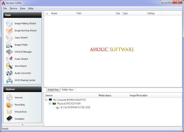Alcohol 120% is a complex CD/DVD burning and emulation program.