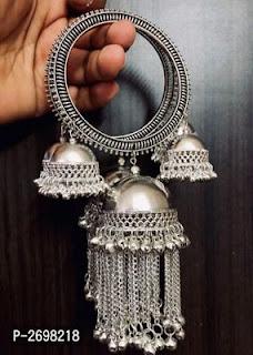 Designer German Silver Bangles