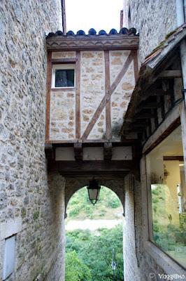 Bello scorcio della Rocamadour Medievale