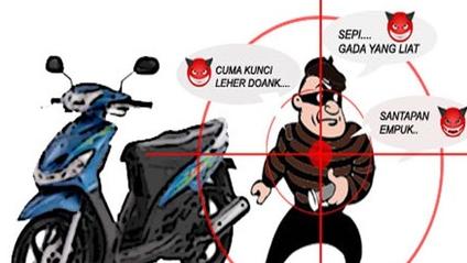 kunci rahasia anti maling pada sepeda motor