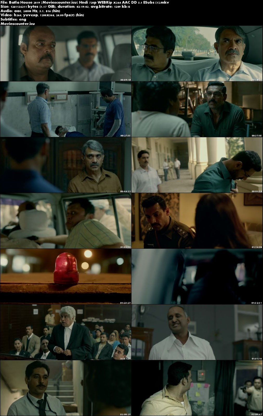 Screen Shots Batla House 2019 Hindi HD 300Mb
