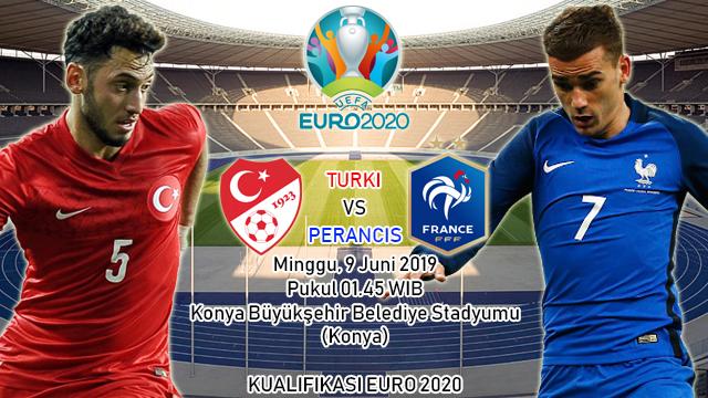 Prediksi Kualifikasi EURO 2020 Turki vs Perancis (9 Juni 2019)