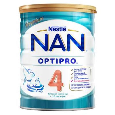 Sữa NAN 4 hộp 400 gr từ 18 tháng tuổi trở lên - Sữa NAN Nga xách tay chính hãng