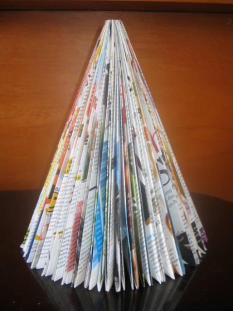 Folded Christmas Tree Craft