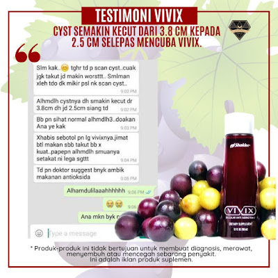 Testimoni Vivix Shaklee Untuk Cyst