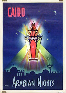 Cairo Arabian nights-travel poster
