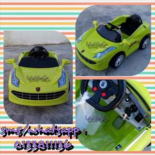 kereta mainan elektrik kanak-kanak