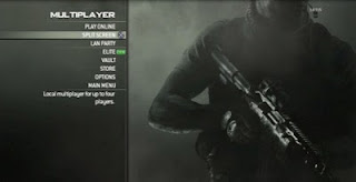 Multiplayer options in Call of Duty MW3 menu, made one switch accessible for game accessibility.