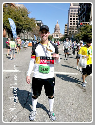 Ricky finishing Austin Marathon