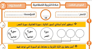جميع فروض المرحلة الثالثة للمستوى الثاني ابتدائي وفق اخر المستجدات