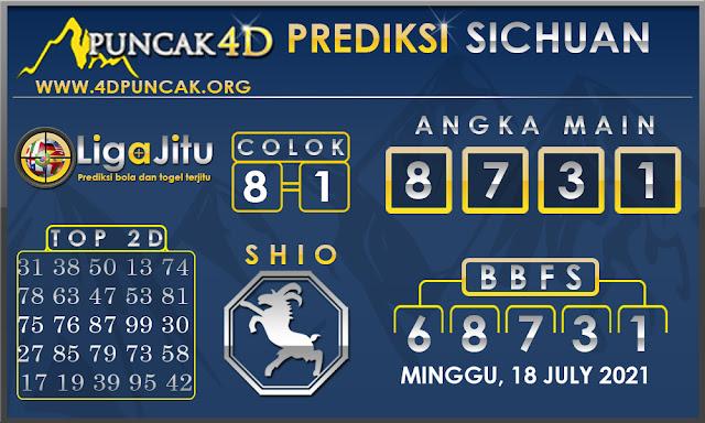 PREDIKSI TOGEL SICHUAN PUNCAK4D 18 JULY 2021