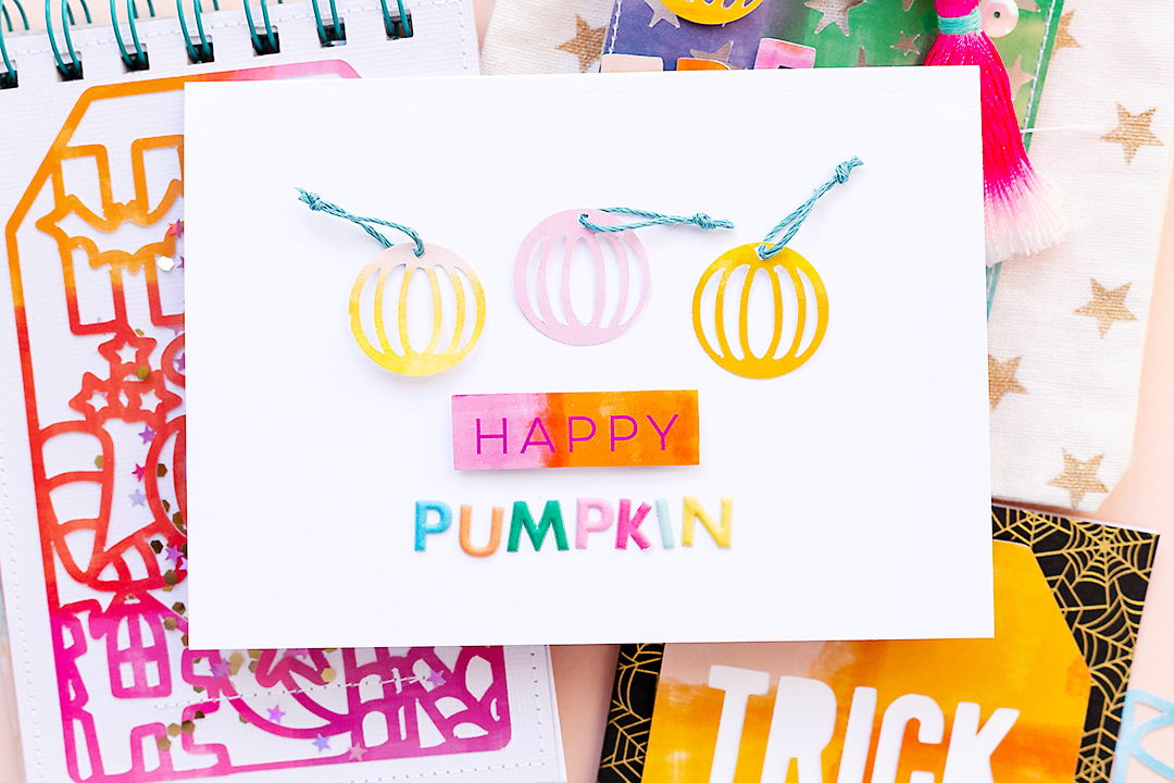 Happy Pumpkin card with cutfiles by Paige Evans