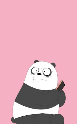 Wallpaper we bare bears lucu