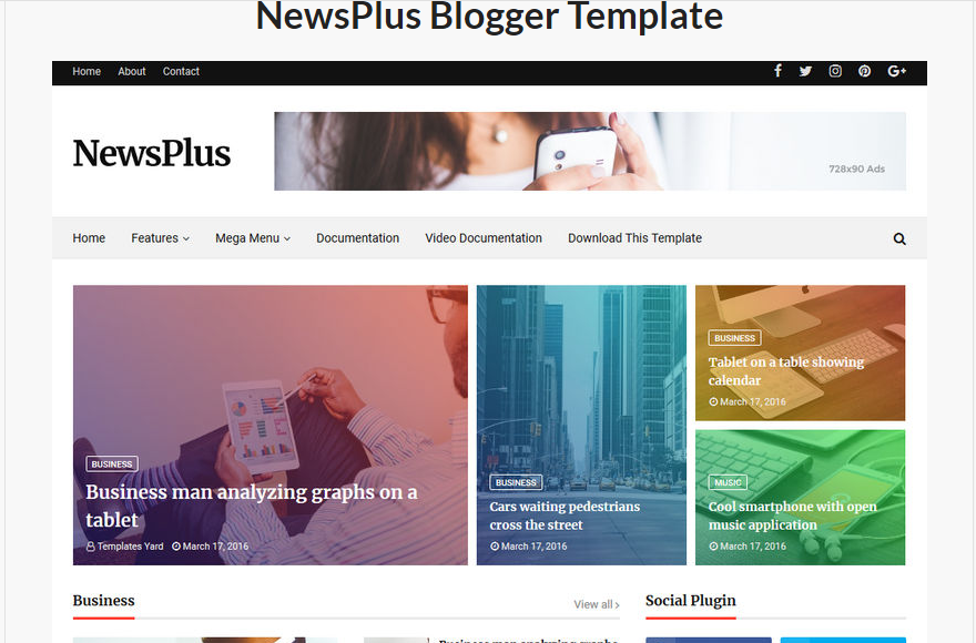Theme for blogger
