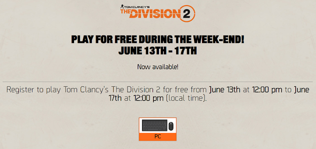 The Division 2 Dree Weekend Page