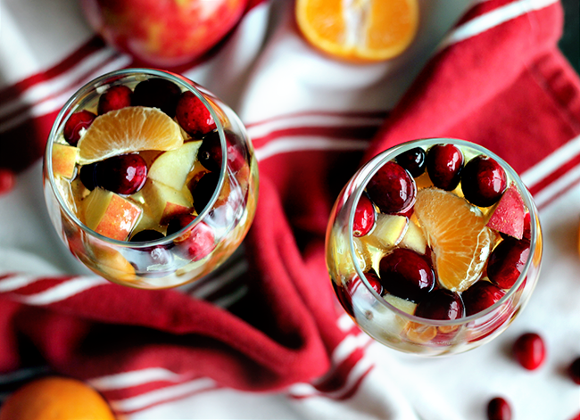 Sparkling Winter White Sangria