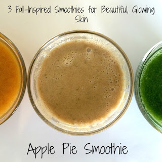 3 Fall-Inspired Smoothies for Glowing Skin | Apple Pie Smoothie