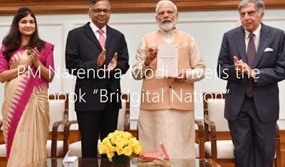 "PM Narendra Modi unveils the book ""Bridgital Nation"""