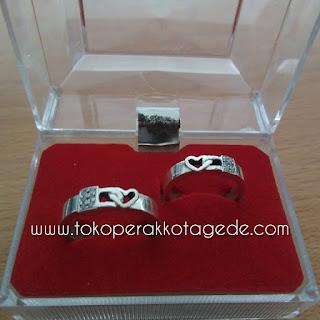 cincin kawin perak 925 model elegan