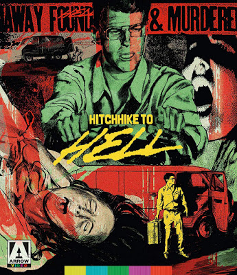 Cover art for Arrow Video's Blu-ray of HITCHHIKE TO HELL!