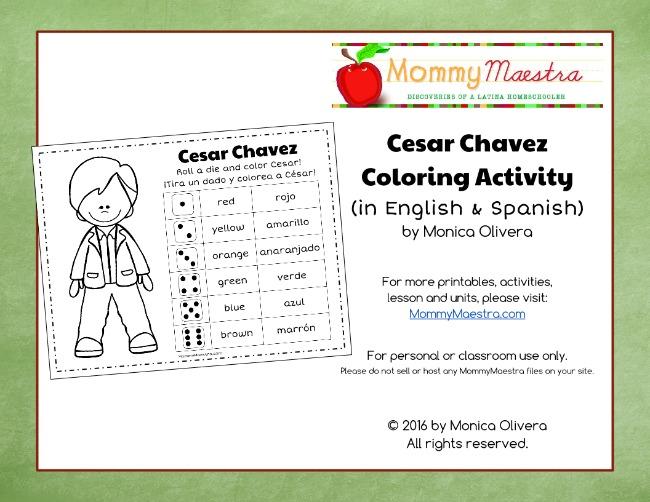 Mommy maestra free printable cesar chavez coloring activity for Cesar chavez coloring page