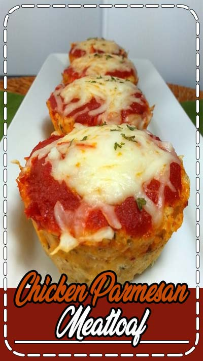 "These Chicken Parmesan Meatloaf ""Muffins"" combine two favorites. Perfectly portioned and just 147 calories or 3 Weight Watchers SmartPoints each!"