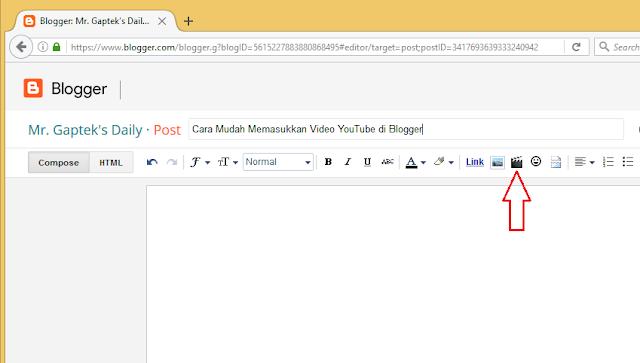 Cara Mudah Memasukkan Video YouTube di Blogger