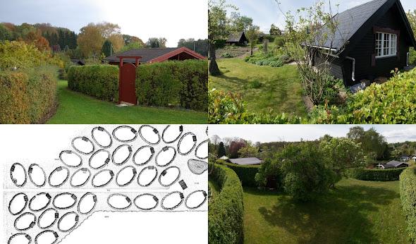Cận cảnh chi tiết sân vườn, hàng rào của khu nhà