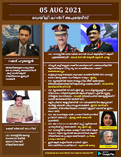 Daily Malayalam Current Affairs 05 Aug 2021