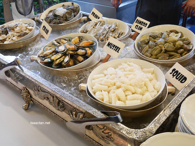 Choose from a variety of fresh seafood