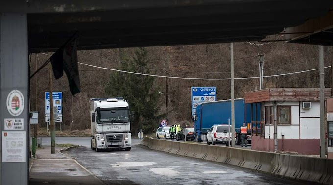 Demonstráció miatt zárták le a nógrádi határátkelőket a szlovák hatóságok