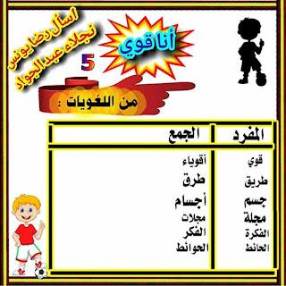 مذكرة شرح قصة أنا قوى منهج الصف الثالث الابتدائي 2021 لغة عربية
