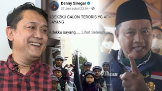 """Parah, Dicari Ratusan Massa karena Ulahnya, Denny Siregar malah Ngetweet """"Kadrun Ngamuk"""""""