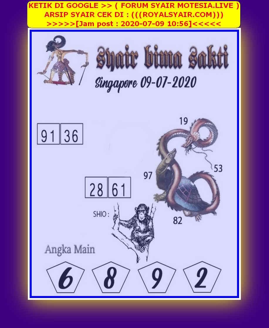 Kode syair Singapore Kamis 9 Juli 2020 79