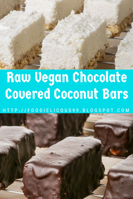 Raw Vegan Chocolate Covered Coconut Bars