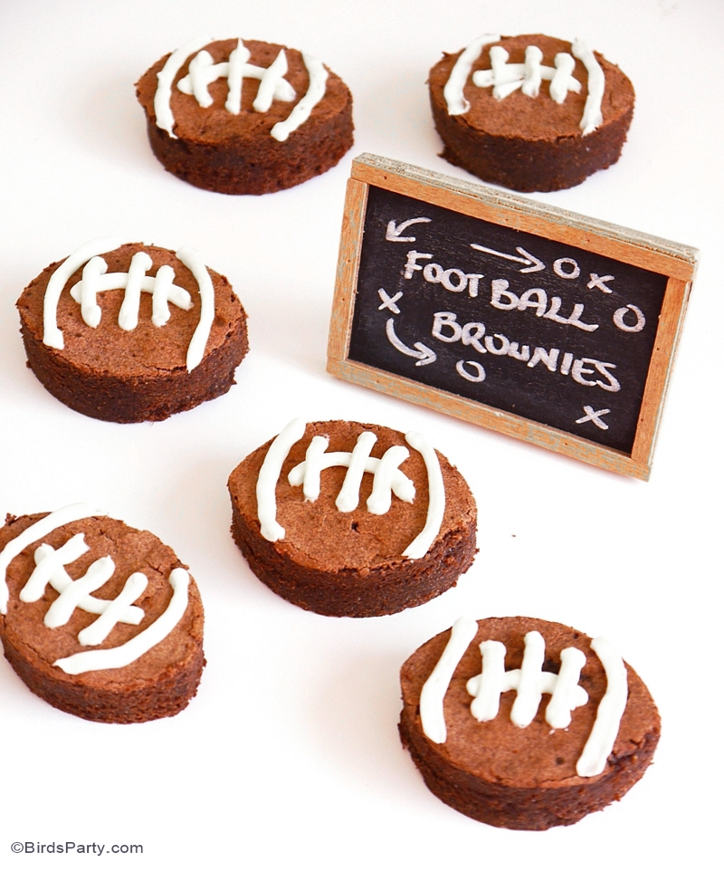 Chocolate Brownie Super Bowl Footballs Recipe - BirdsParty.com